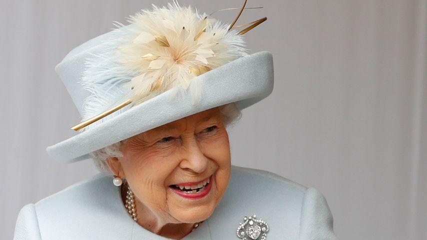Queen Elizabeth II. bei der Hochzeit von Prinzessin Eugenie