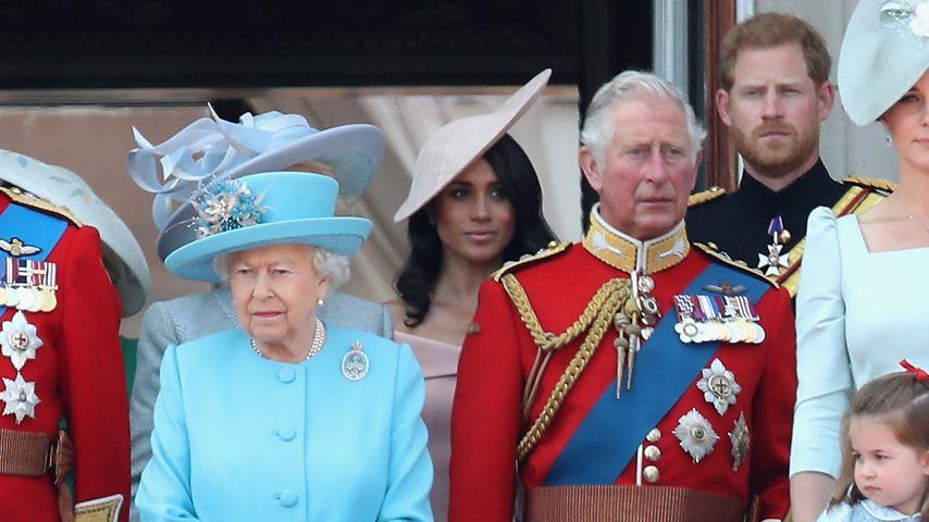 Queen Elizabeth II., Herzogin Meghan, Prinz Charles und Prinz Harry