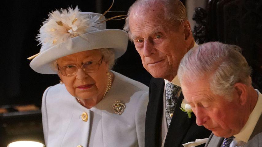 Queen Elizabeth II., Prinz Philip und Prinz Charles