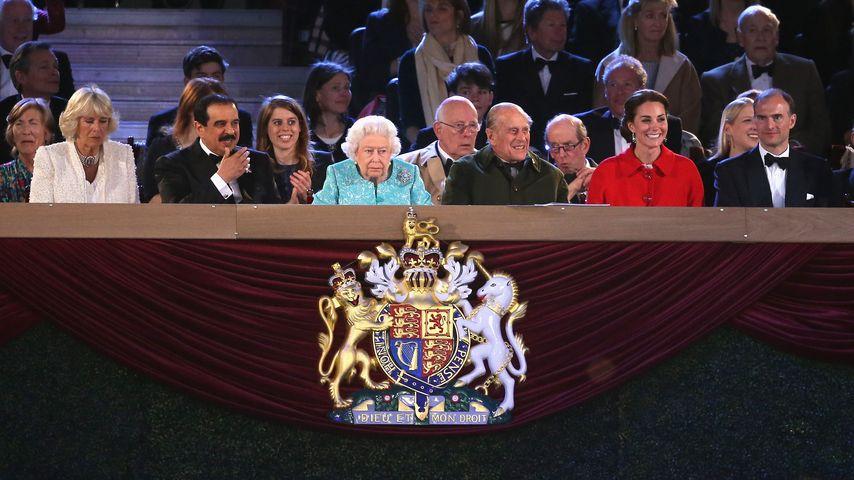 Herzogin Kate, Queen Elizabeth II., Prinz Philip und Camilla Parker Bowles