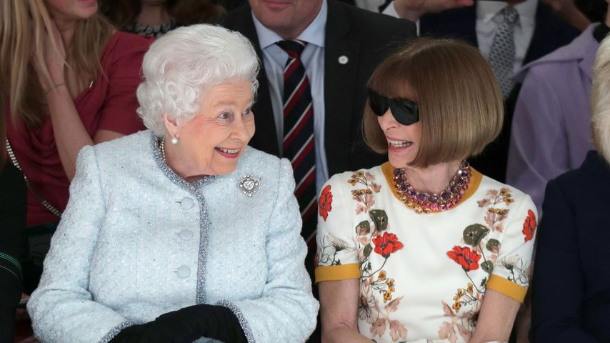 Queen Elizabeth II. und Anna Wintour, London Fashion Week 2018