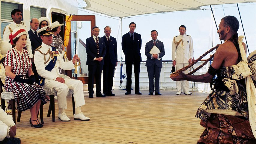 Queen Elizabeth II. und Prinz Philip auf Fidschi