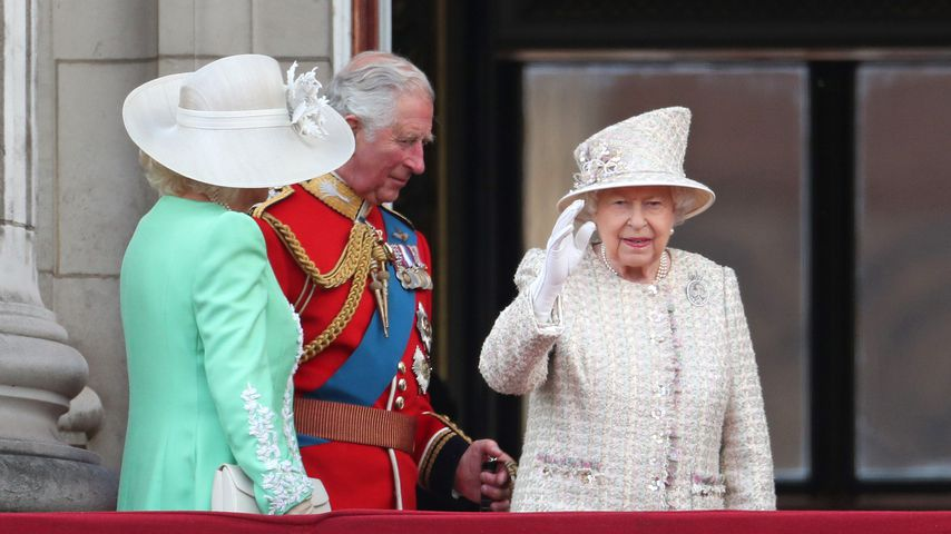 Queen Elizabeth während Trooping the Colour 2019