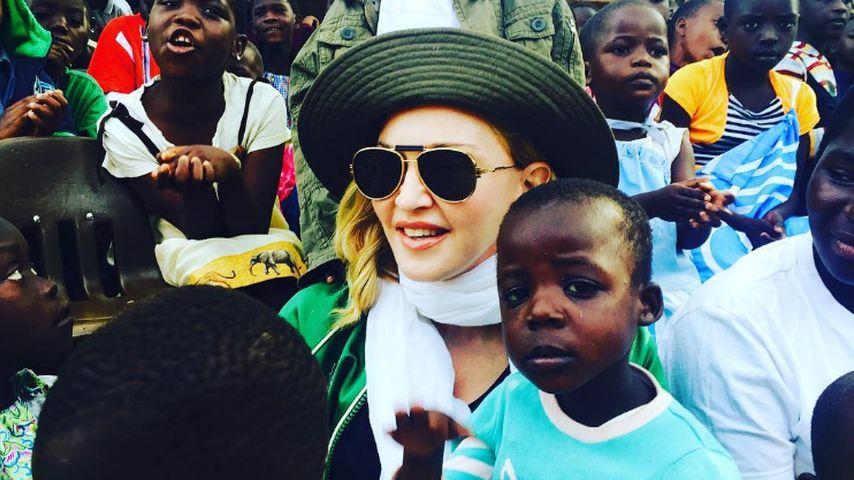 Queen of Pop Madonna besucht ein Waisenhaus in Malawi
