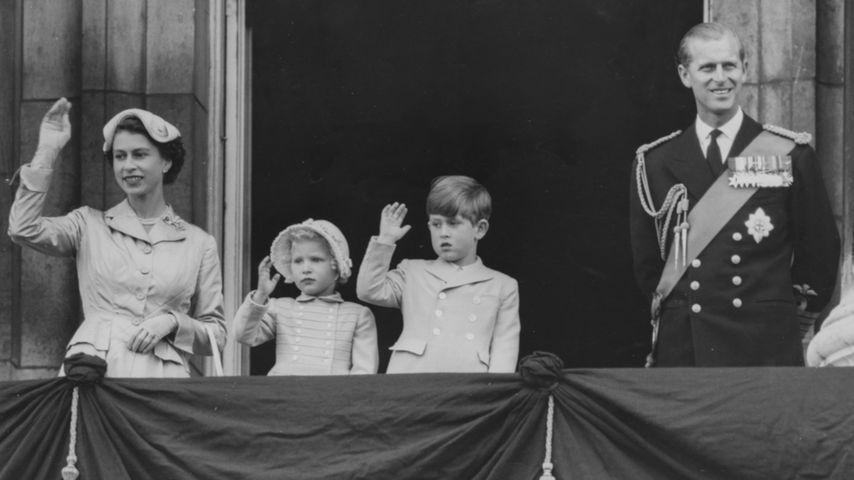 Queen Elizabeth II., Prinz Philip, Prinz William und Prinzessin Anne