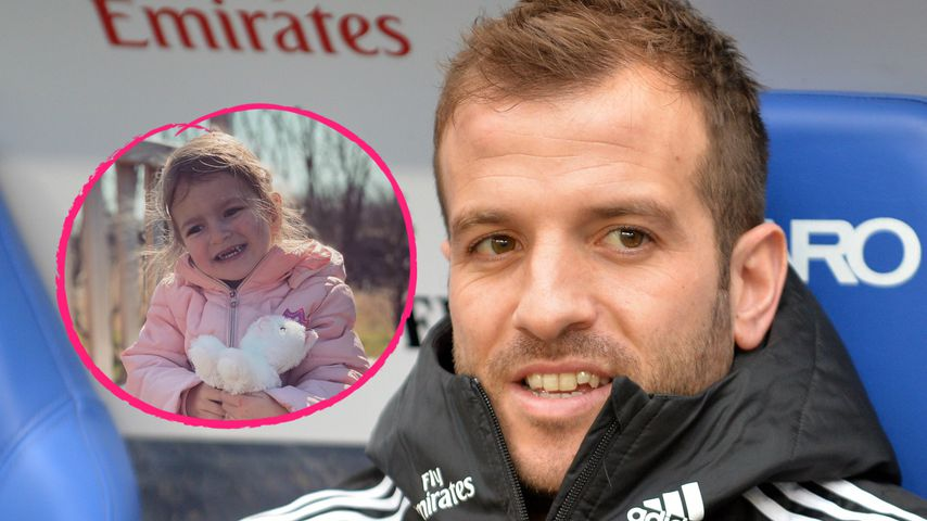 Niedlich: So groß ist Rafael van der Vaarts Tochter schon