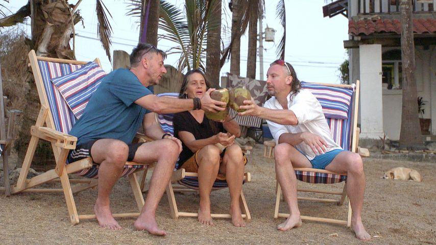 Rainer, Bäuerin Calina und Oli beim Date