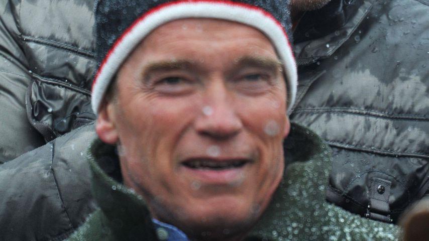 Ralf Moeller und Arnold Schwarzenegger bei einem Sportevent in Kitzbühel im Januar 2012