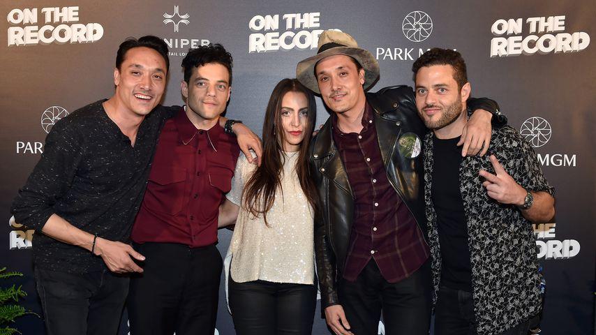 Jonnie Houston, Rami Malek, Dr. Jasmine Malek, Mark Houston und Sami Malek in Las Vegas