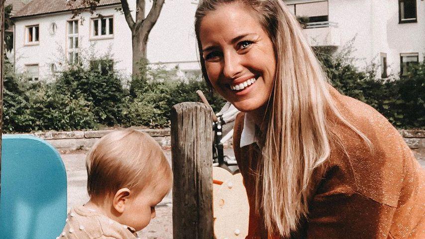 Ramona Stöckli (rechts) und ihre Tochter Clea (links) im September 2019