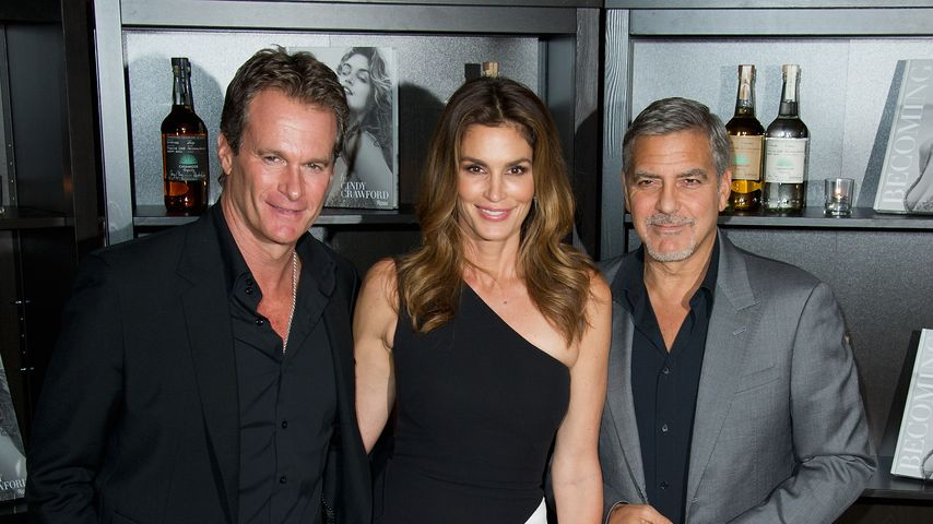 "Rande Gerber, Cindy Crawford und George Clooney bei ""Casamigos Tequila"" Launchparty"