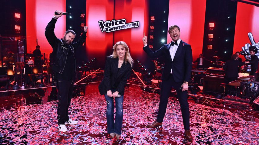 "Rea Garvey, Paula Dalla Corte und Samu Haber im Finale von ""The Voice of Germany"""