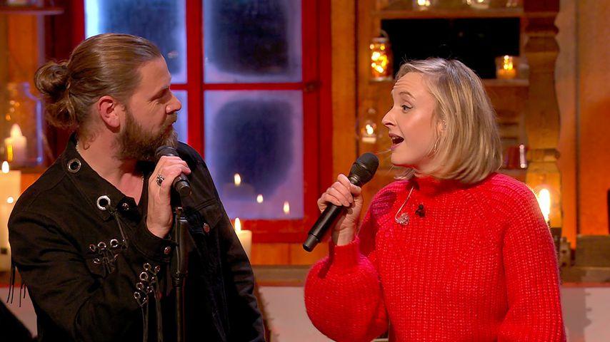 """Rea Garvey und Leslie Clio bei """"Sing meinen Song – Das Weihnachtskonzert"""""""