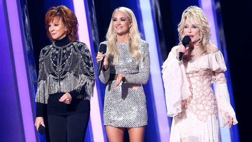 Reba McEntire, Carrie Underwood und Dolly Parton
