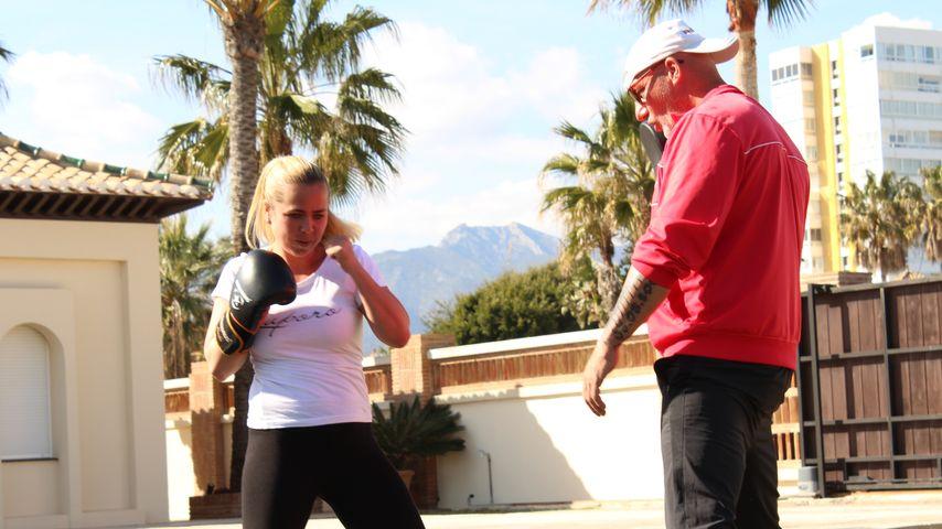 Rebecca Kratz beim Training