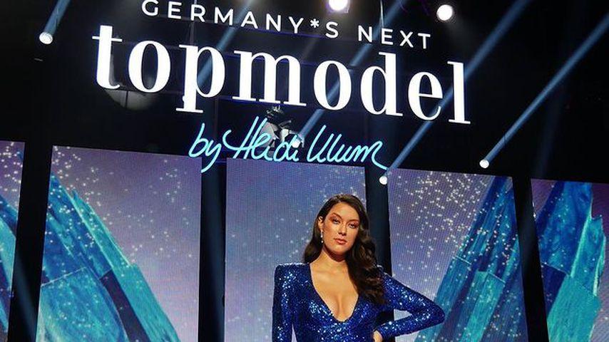 "Rebecca Mir am Set von ""Germany's next Topmodel"""