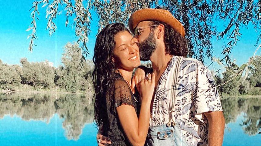 So verliebt: Massimo Sinató knutscht seine Rebecca Mir ab