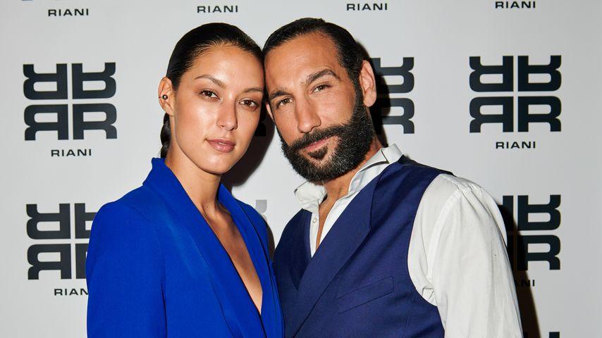 Rebecca Mir und Massimo Sinató bei der Berlin Fashion Week 2018