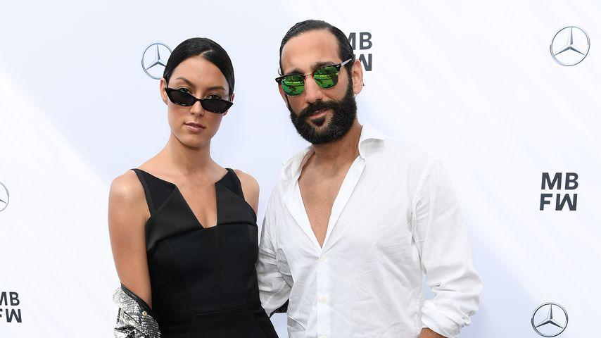 Rebecca Mir und Massimo Sinató bei der Berlin Fashion Week