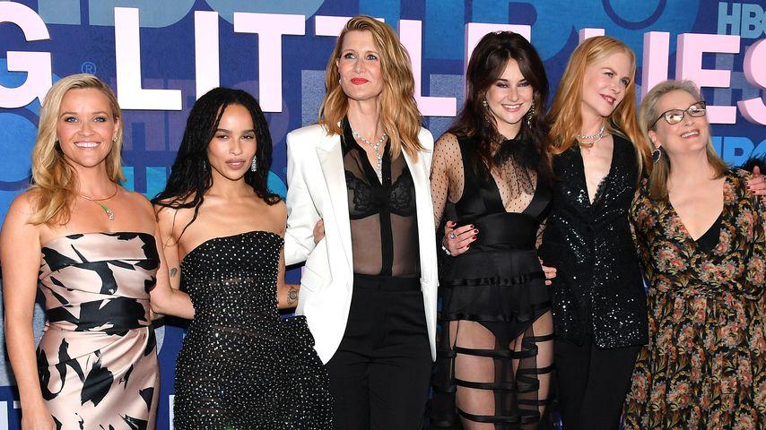Reese Witherspoon, Zoe Kravitz, Laura Dern, Shailene Woodley, Nicole Kidman und Meryl Streep