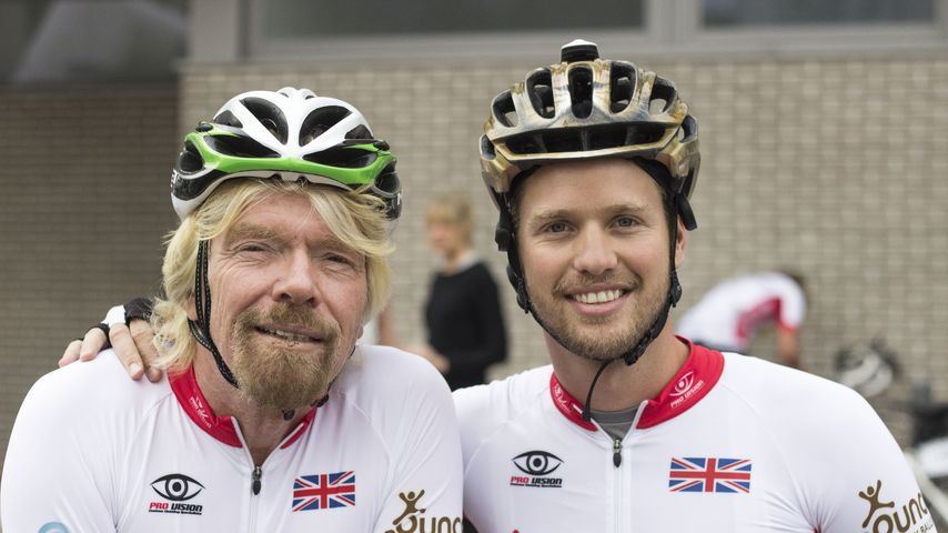 "Richard Branson und Sam Branson bei der ""Virgin Strive Challenge 2014"""