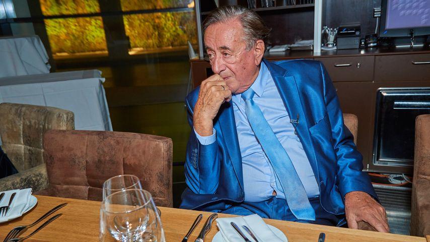 Richard Lugner bei seiner Geburtstagsfeier in einem Restaurant in Wien 2016