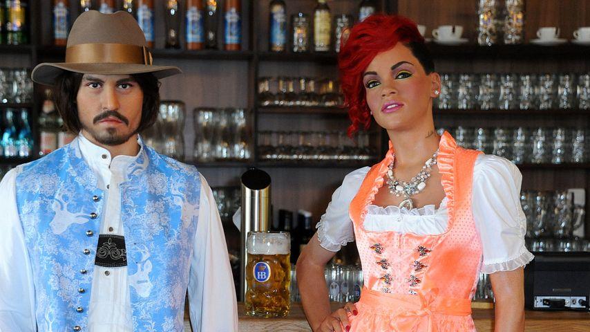 Fesch! Rihanna & Johnny Depp in bayrischer Tracht
