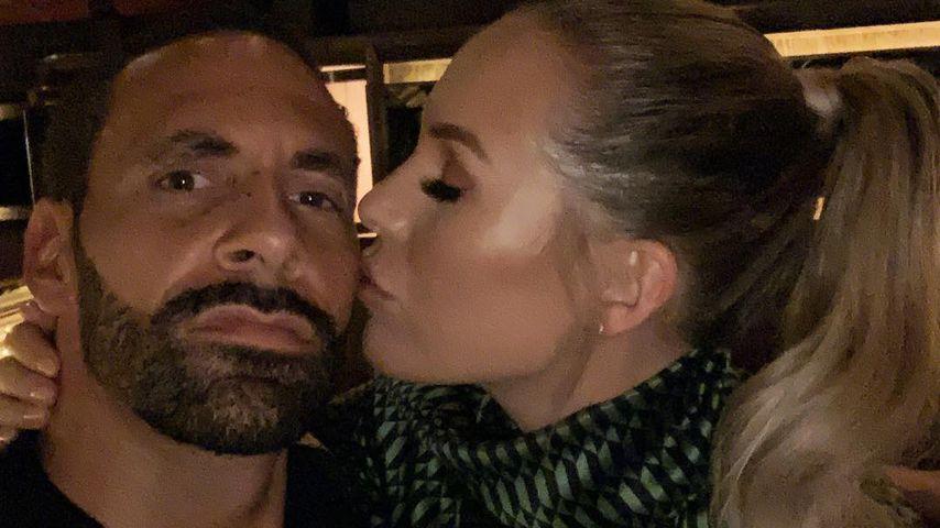 Rio Ferdinand und seine Verlobte Kate Wright