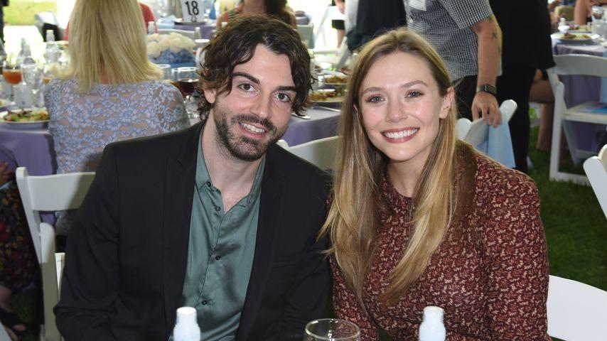 Robbie Arnett und Elizabeth Olsen im Oktober 2017