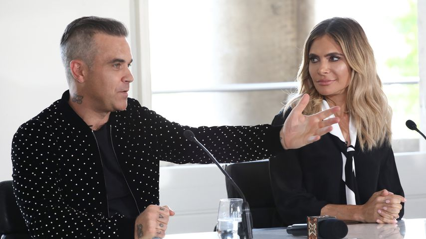 "Robbie Williams und Ayda Field bei ""The X Factor"" in London"