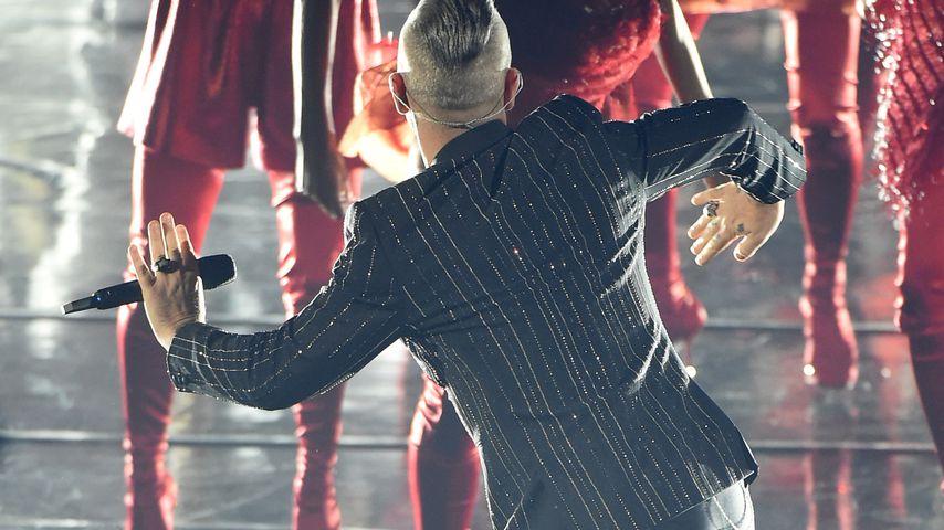 """Robbie Williams beim Finale von """"X Factor"""" in Italien"""