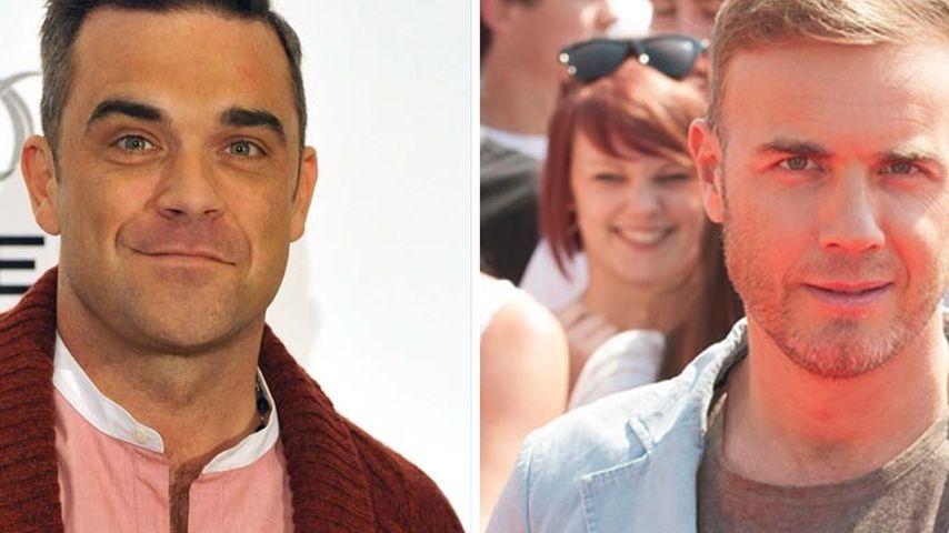 Gary Barlow gratuliert Kumpel Robbie zur Geburt