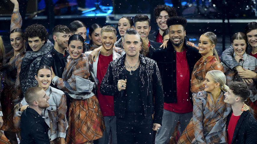 """Robbie Williams beim Finale von """"X Factor"""" in Italien 2019"""