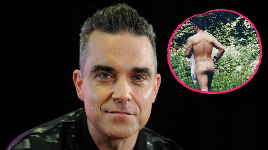 Nackig im Wald: Robbie Williams amüsiert mit Pobacken-Poesie