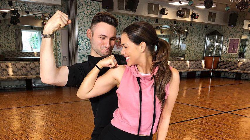 Robert Beitsch und Jessica Paszka beim Tanztraining
