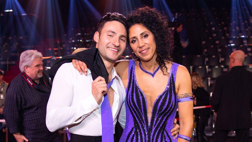 """Robert Beitsch und Steffi Jones nach der ersten """"Let's Dance""""-Liveshow, Februar 2020"""