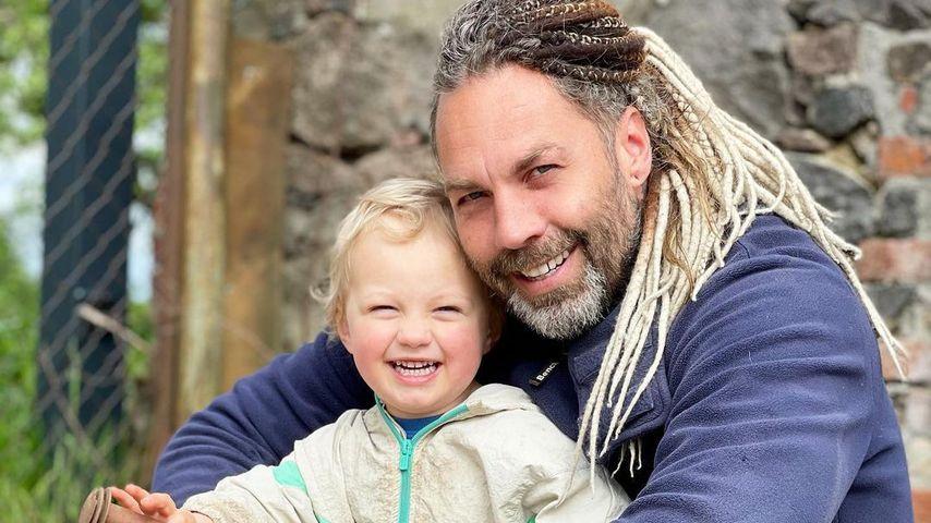 Robert Dallmann mit seinem Sohn