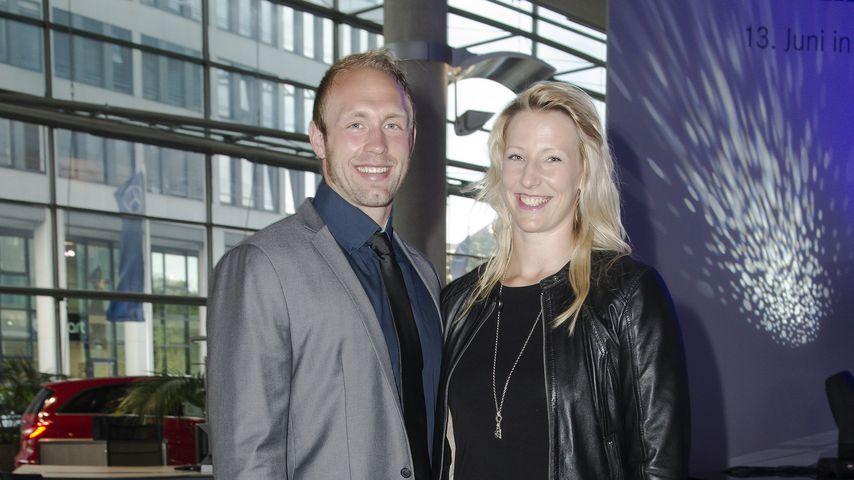 Robert und Julia Harting bei einer Autopräsentation in Berlin, 2013