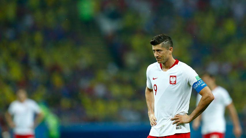 Robert Lewandowski nach dem WM-Spiel Polen gegen Kolumbien