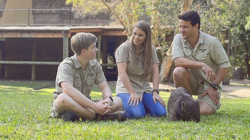 Robert und Bindi Irwin mit Chandler Powell