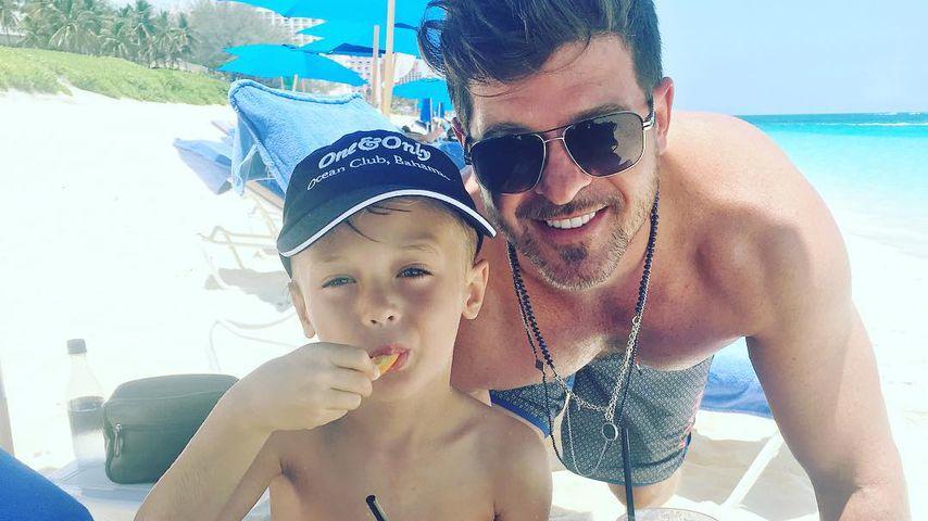 Robin Thicke im Urlaub mit seinem Sohn Julian