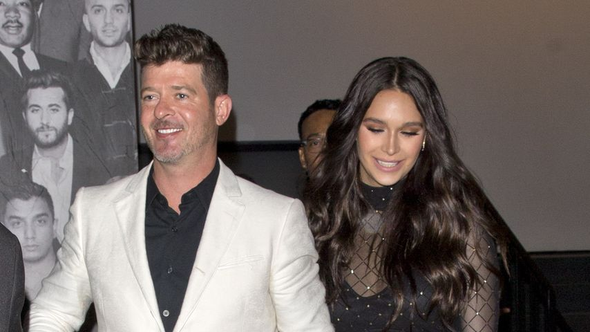 Robin Thicke und April Love Geary in Los Angeles, 2019