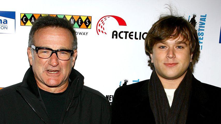 Robin Williams und sein Sohn Zachary 2007
