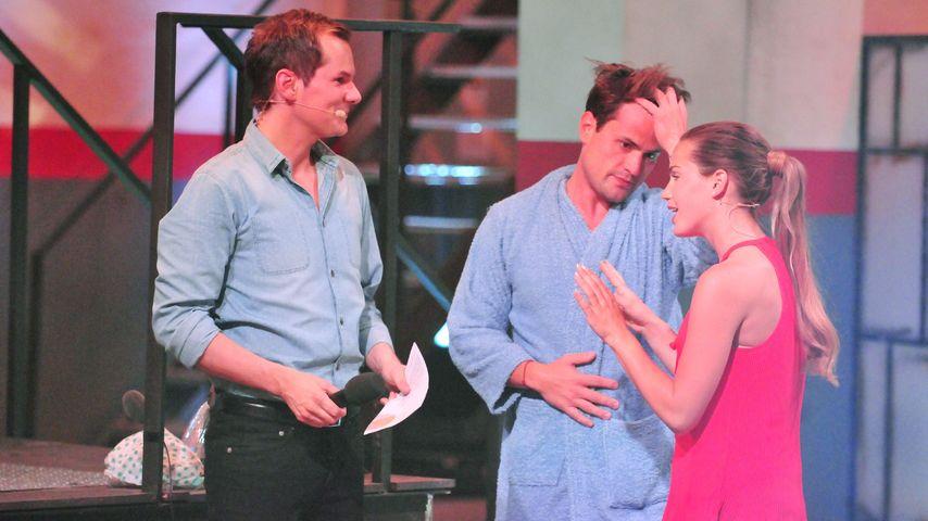 Rocco Stark und Angelina Heger bei einem Spiel des RTL-Sommerhauses