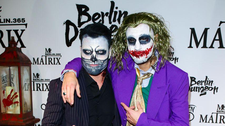 Rocco Stark und Marc Aurel Zeeb bei Natascha Ochsenknkechts Halloween-Party in Berlin