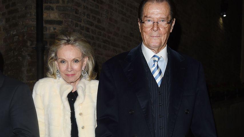 Roger Moore und Ehefrau Kristina Tholstrup