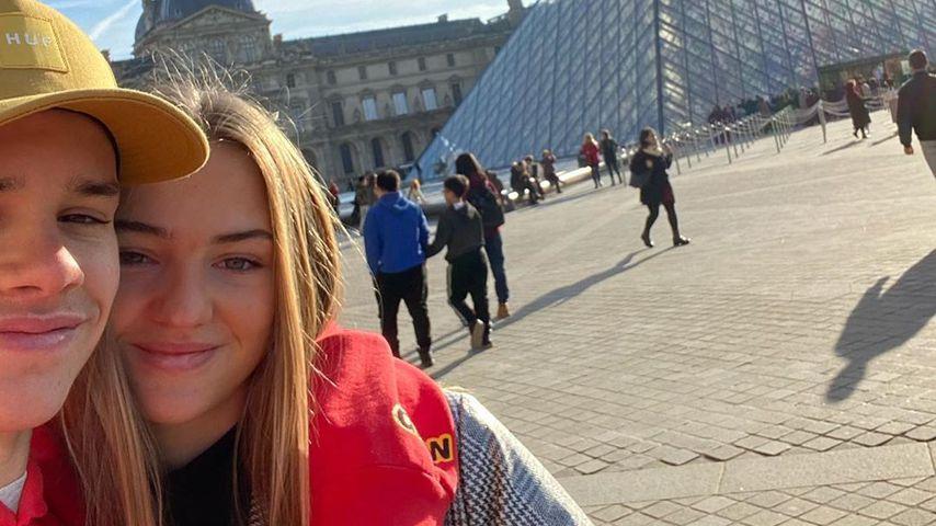 Romeo Beckham und Mia Regan in Paris