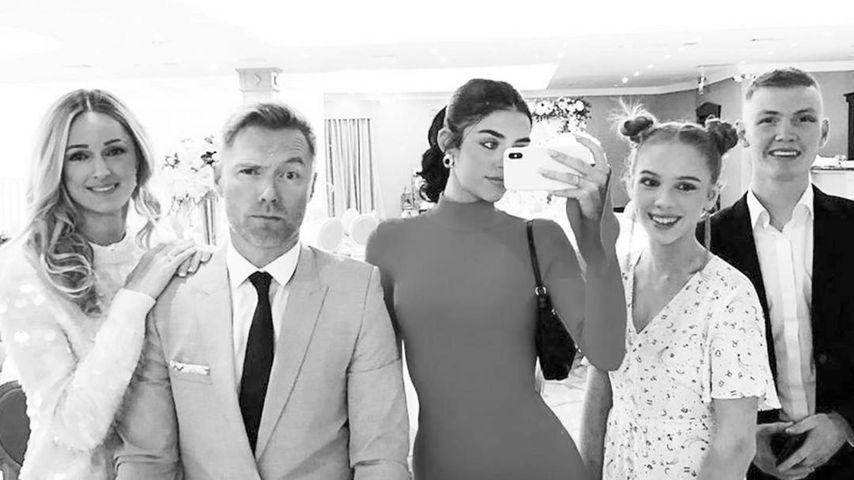 Ronan Keating mit seiner Frau Storm, seinen Töchtern Missy und Ali und seinem Sohn Jack
