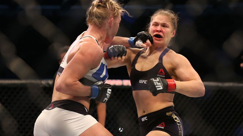 Ronda Rousey im UFC-Kampf gegen Holly Holm in New York