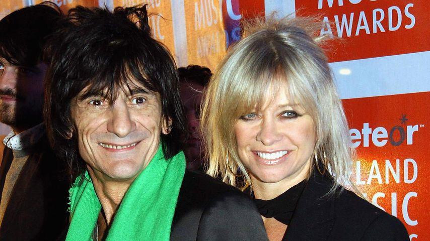 Ronnie Wood und seine Ex-Frau Jo